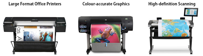Large Format Printers & Scanners by HP